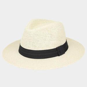 Jungle Woven Fedora Medium Brim Hat